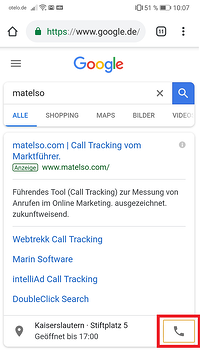 Google Ads call extension